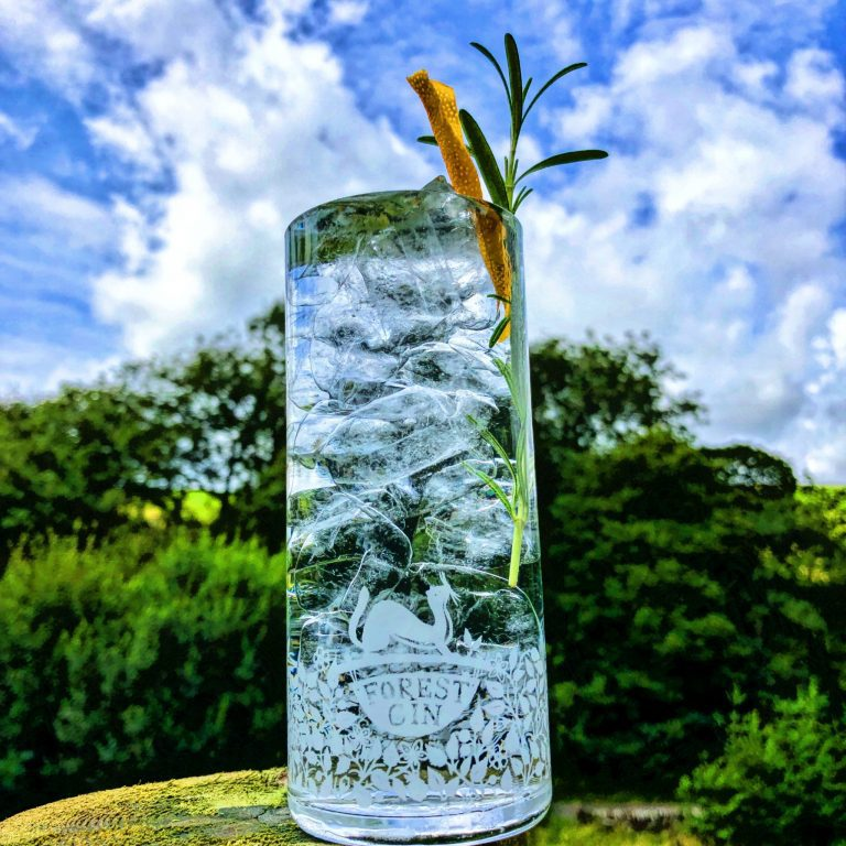 Forest Crystal Highball Crystal Glasses